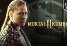 صورة ظهور بطلة العالم Ronda Rousey بلباس شخصية Sonya Blade المستوحاة من لعبة Mortal11Kombat!