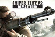 صورة عرض الإطلاق الخاص بلعبة Sniper Elite V2 Remastered .