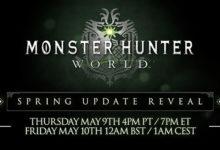 صورة الإعلان عن تفاصيل التحديث القادم للعبة Monster Hunter: World بتاريخ 9 مايو القادم .