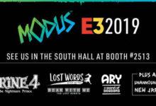 صورة الإعلان عن قائمة عناوين شركة Modus Games لمعرض E3 2019 .