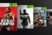 صورة عروض على العاب جهاز Xbox 360 من خلال التوافق المسبق