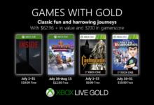 صورة الإعلان عن قائمة ألعاب خدمة Xbox Live Gold المجانية لشهر يوليو .
