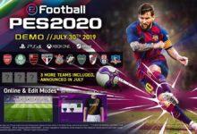 صورة نسخة الديمو الخاصة بلعبة eFootballPES2020 قادمة بتاريخ 30 يوليو .