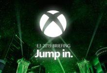 صورة البث المباشر للمؤتمر الصحفي لشركة ميكروسوفت لمعرض E3 2019 .