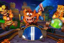 صورة مقارنة نسخة الريميك من لعبة Crash Team Racing مع النسخة الكلاسيكية