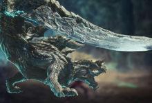 صورة عرض دعائي جديد لتوسعة Monster Hunter World: Iceborne يسلط الضوء على وحش Acidic Glavenus .