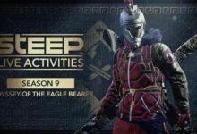صورة الإعلان عن التعاون المشترك بين لعبة Steep و لعبة Assassin's Creed Odyssey .