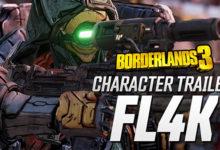 صورة عرض دعائي جديد للعبة Borderlands 3 يقدم شخصية FL4K .