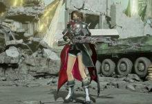 صورة عرض دعائي جديد للعبة Code Vein يسلط الضوء على سلاح Bayonet .