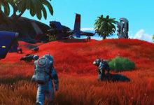صورة عرض الإطلاق الخاص بتوسعة Beyond القادمة للعبة No Man's Sky .