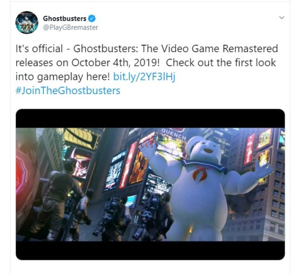 الإعلان عن موعد إصدار لعبة GHOST BUSTERS: THE VIDEO GAME