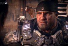 صورة فتح علبة جهاز Xbox one X الخاص بلعبة Gears 5