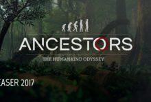 صورة عرض الإطلاق الخاص بلعبة Ancestors: The Humankind Odyssey .
