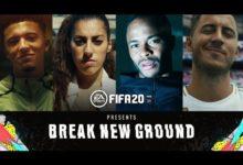 صورة عرض الإطلاق الخاص بلعبة FIFA 20 .