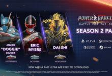 صورة الإعلان عن شخصيات الموسم الثاني القادمة للعبة Power Rangers: Battle for the Grid .
