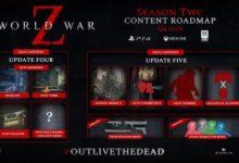 صورة الإعلان عن محتويات الموسم الثاني الإضافية القادمة للعبة World War Z بشكل مجاني .