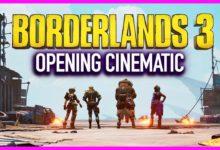 صورة عرض الإفتتاحية والبداية للعبة Borderlands 3 .