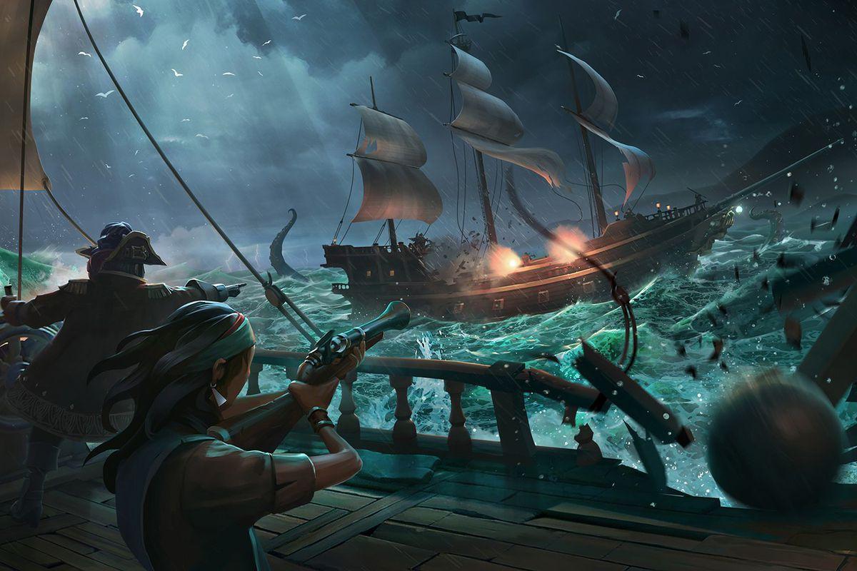 sea of thieves kraken battle.0