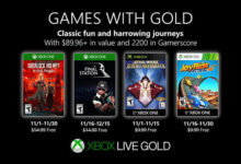 صورة الإعلان عن قائمة الألعاب المجانية القادمة لخدمة Xbox Live Gold خلال شهر نوفمبر .