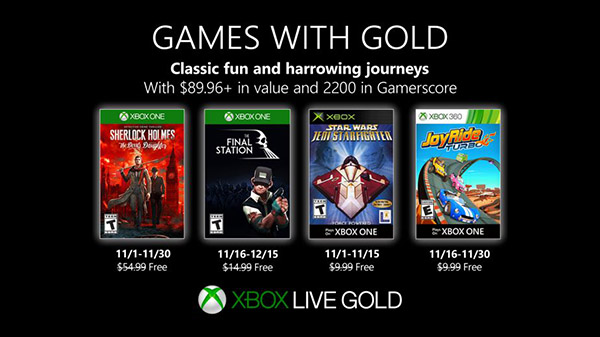 XBL Games Gold 10 30 19
