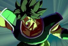 صورة عرض دعائي لشخصية Broly القادمة للعبة Dragon Ball FighterZ كمحتوى إضافي .