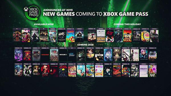 Xbox Game Pass 11 14 19