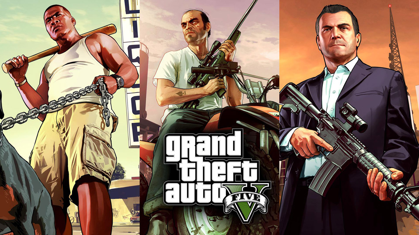 Grand Theft Auto V Art Silk Print Fabric Poster Game Hot GTA 5 Images for Wall
