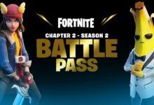 صورة الكشف عن محتويات الـ Battle Pass الخاصة بالفصل الثاني من الموسم الثاني من لعبة Fortnite .