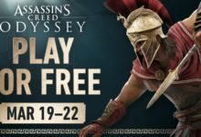 صورة لعبة Assassin's Creed Odyssey ستتوفر للتحميل بشكل مجاني بداية من تاريخ 19 مارس من خلال متجر Xbox الرقمي .