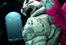 صورة عرض دعائي جديد للعبة DOOM Eternal يستعرض لنا الطرق المختلفة لتزيين شخصيتك باللعبة .