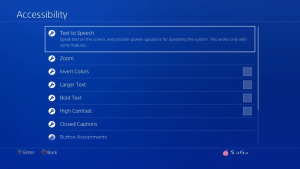 Settings Accessibility menu image2