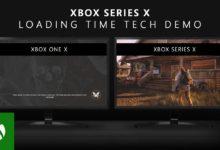 صورة عرض مقارنة بين أوقات التحميل بين جهاز Xbox One و Xbox Series X