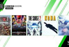 صورة الإعلان عن أحدث الألعاب القادمة لخدمة Xbox Game Pass خلال شهر مارس .
