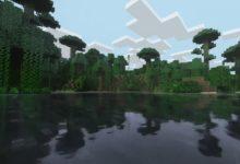 صورة لعبة Minecraft تبدو رائعة جداً مع تقنية RTX .
