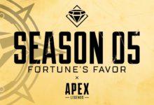 صورة عرض اطلاق الموسم 5 الخاص بلعبة Apex Legends