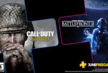 صورة الإعلان عن قائمة الألعاب القادمة لخدمة PS Plus بشهر يونيو .
