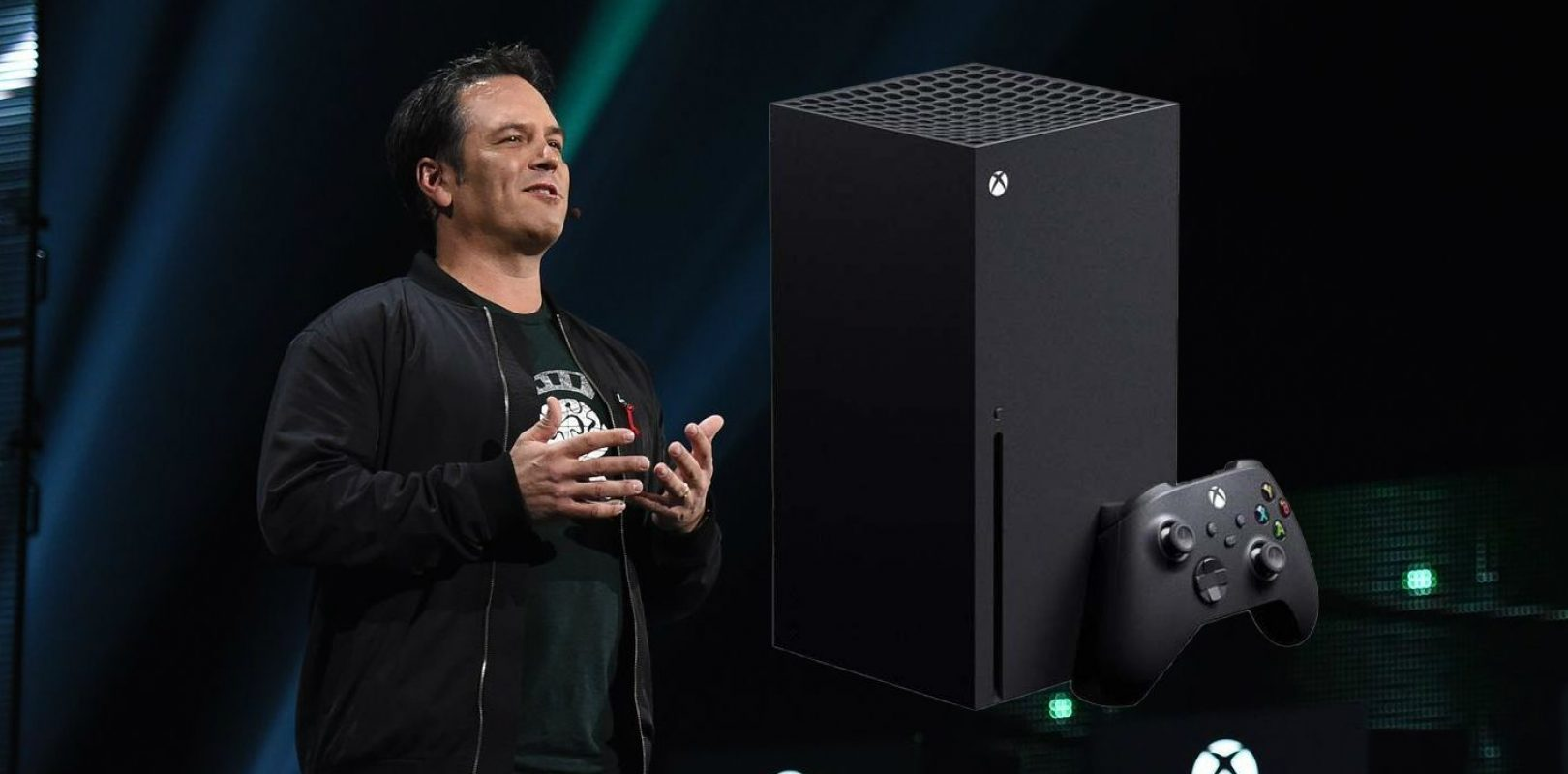 Phil Spencer with XBOX Series X
