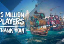 صورة أكثر من 15 مليون لاعب قاموا بتجربة Sea of Thieves حتى الآن .