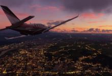 صورة الاستديو المطور للعبة Microsoft Flight Simulator يعمل بكامل طاقته على نسخة Xbox من اللعبة .