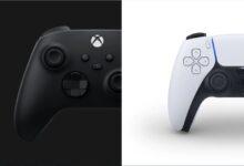 صورة عكس جهاز Xbox ، يد تحكم PS4 القديمة لن تستطيع تشغيل ألعاب PS5 على الجهاز الجديد.
