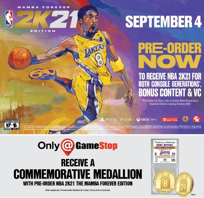 Kobe 2K21 Pre Orders
