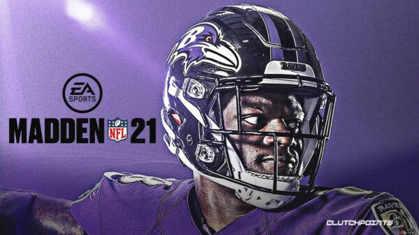 Lamar Jackson featured on Madden 21 cover