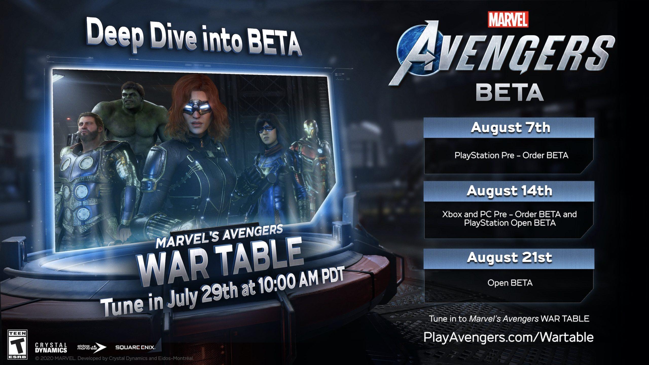 Marvel Avengers beta scaled 1