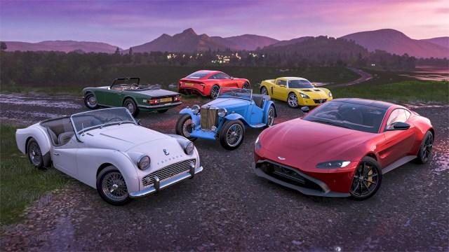 forza horizon 4 british sports cars