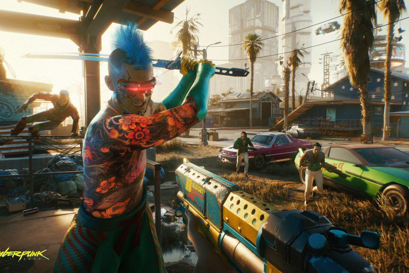 Cyberpunk2077 Always bring a gun to a knife fight RGB en.0