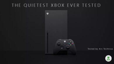 صورة جهاز Xbox Series X هو الأكثر هدوءاً بين جميع أجهزة Xbox السابقة .