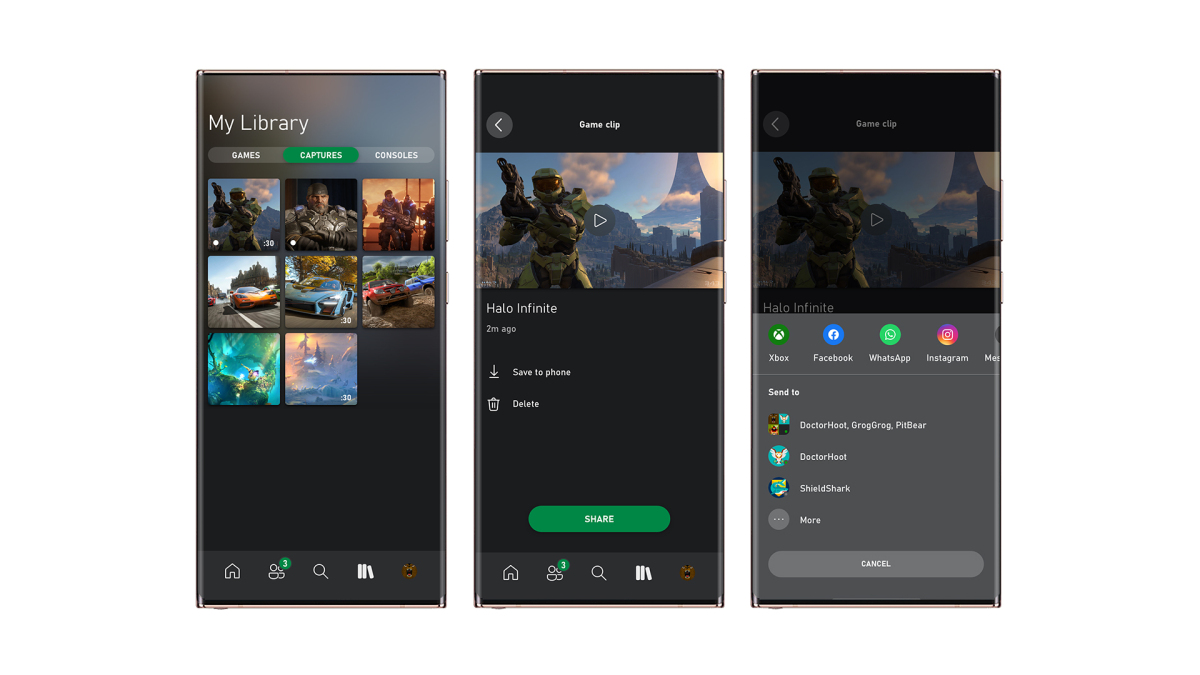 Xbox Mobile App Capture and Share Library