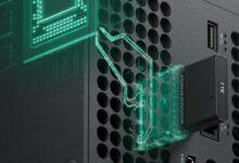 صورة الاعلان عن سعر وحده التخزين الخاصة بأجهزة Xbox Series