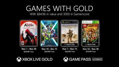 صورة الإعلان عن ألعاب خدمة Xbox Live Gold المجانية لشهر نوفمبر .