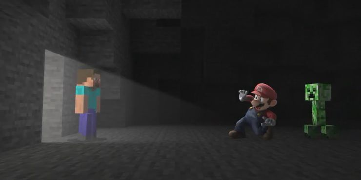 Smash Bros. Steve and Mario